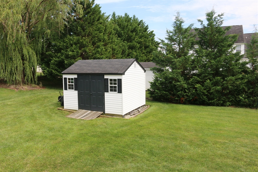 Real Estate Photography - 127 Willow Grove Mill Dr, Middletown, DE, 19709 - 10'x12' A-Frame Shed