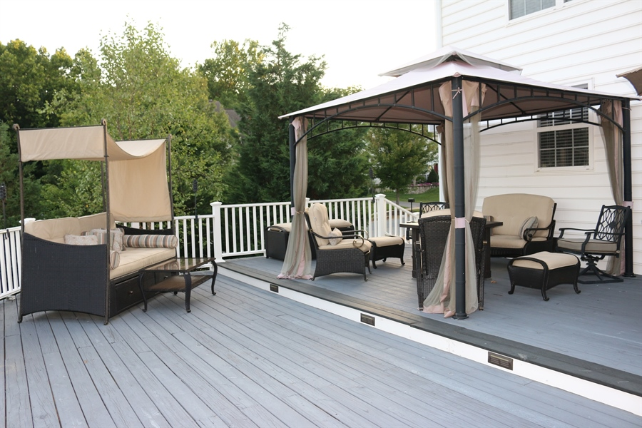 Real Estate Photography - 127 Willow Grove Mill Dr, Middletown, DE, 19709 - Split Deck With LED Deck Lights