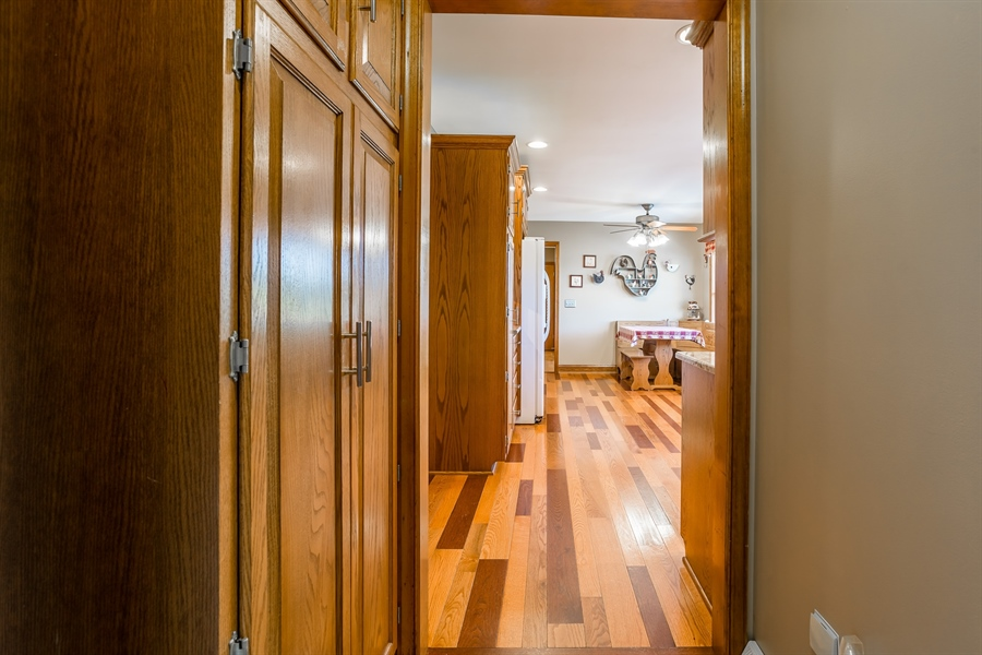 Real Estate Photography - 281 Marjorie Ln, Harrington, DE, 19952 - VIEW FROM HALL LEADING TO THE GARAGE INTO KITCHEN