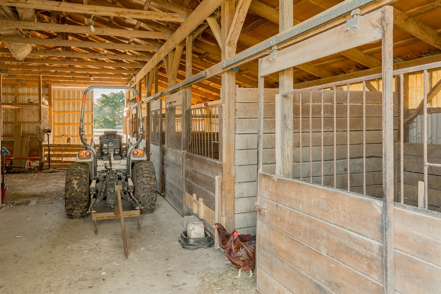 Real Estate Photography - 281 Marjorie Ln, Harrington, DE, 19952 - VIEW OF THE INTERIOR OF THE BARN