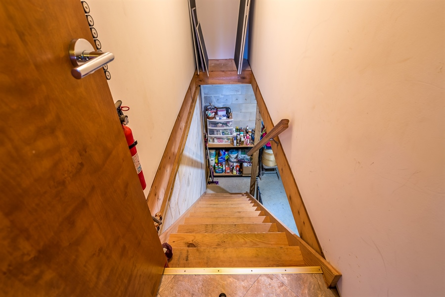 Real Estate Photography - 281 Marjorie Ln, Harrington, DE, 19952 - STAIRS LEADING TO THE WALK OUT BASEMENT