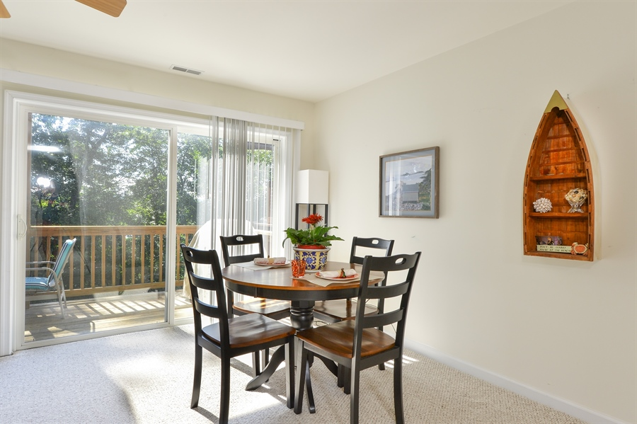 Real Estate Photography - 118 North East Isles Drive, North East, DE, 21901 - Dining Area w/Entrance to Deck