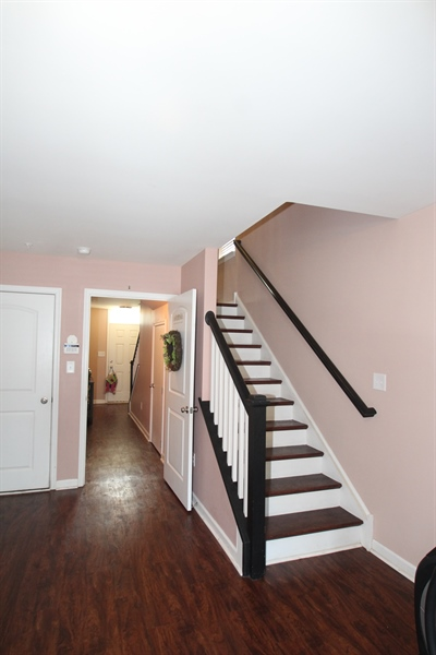 Real Estate Photography - 111 Russell Lane, Newark, DE, 19711 - Back Staircase from Family Room