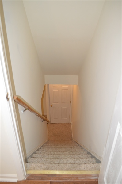 Real Estate Photography - 210 Vincent Cir, Middletown, DE, 19709 - Stairs Leading to Finish Basement