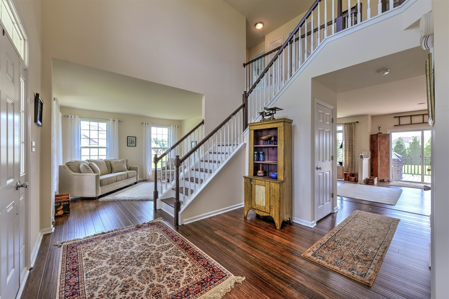 Real Estate Photography - 30096 Stage Coach Cir, Milford, DE, 19963 - Two Story Entry