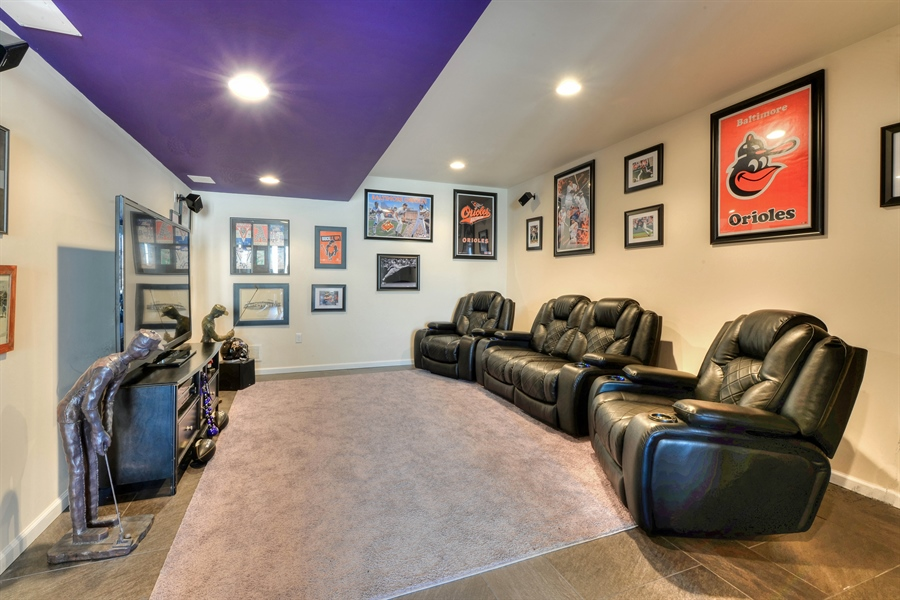 Real Estate Photography - 30096 Stage Coach Cir, Milford, DE, 19963 - TV viewing in the basement!