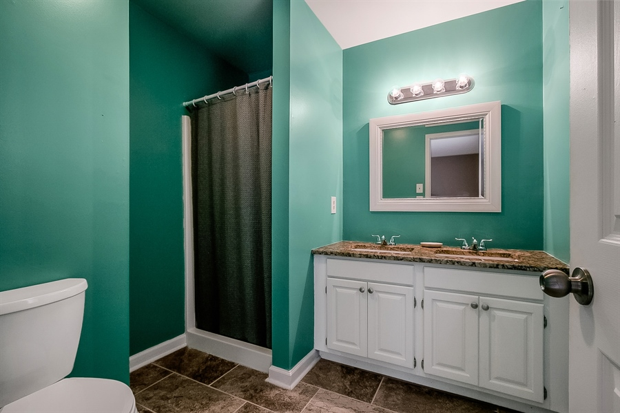 Real Estate Photography - 1715 Pennrock Rd, Wilmington, DE, 19809 - Updated Master Bath with dual vanity in 2018