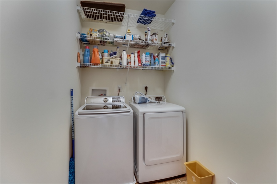 Real Estate Photography - 7771 Clydesdale Ct, Milford, DE, 19963 - Laundry room, washer & dryer included!