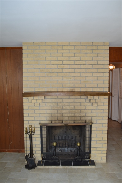 Real Estate Photography - 2403 McCawber Dr, Wilmington, DE, 19808 - Wood Burning Fireplace