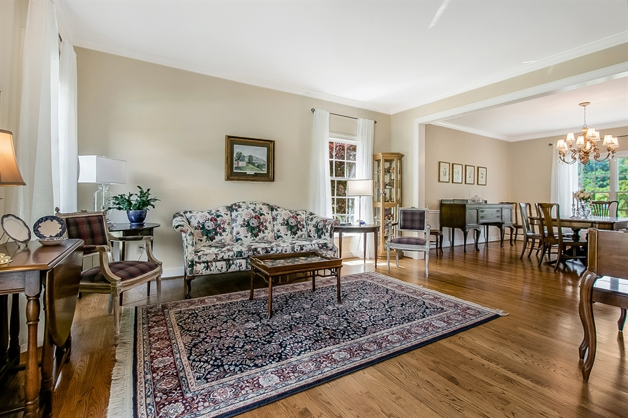 Real Estate Photography - 204 S Pond Rd, Hockessin, DE, 19707 - Another Living Room View Looking Into Dining Room