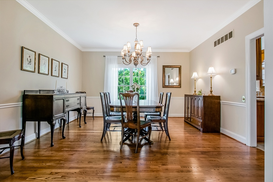 Real Estate Photography - 204 S Pond Rd, Hockessin, DE, 19707 - Delightful Dining Room, Great View of Back Yard