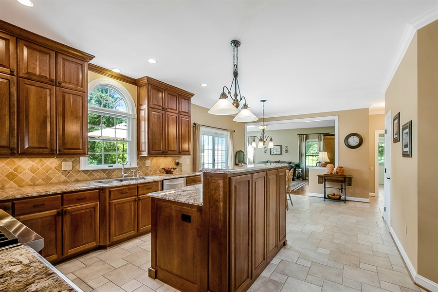Real Estate Photography - 204 S Pond Rd, Hockessin, DE, 19707 - Stunning Remodeled Kitchen w/ Wolf Gas Cook Top
