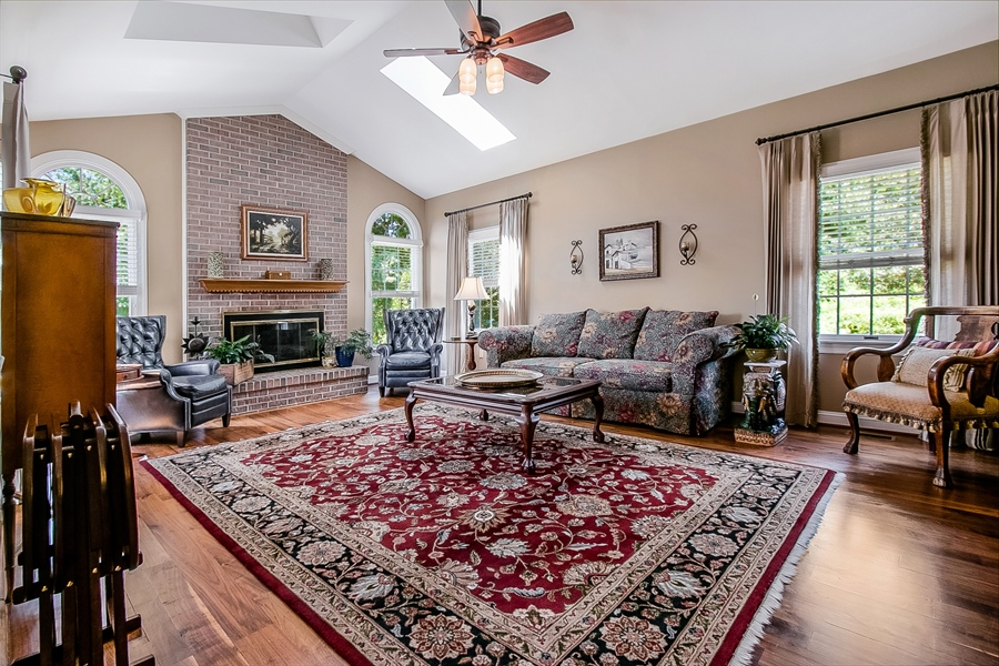 Real Estate Photography - 204 S Pond Rd, Hockessin, DE, 19707 - Fabulous Vaulted Family Room with Skylights