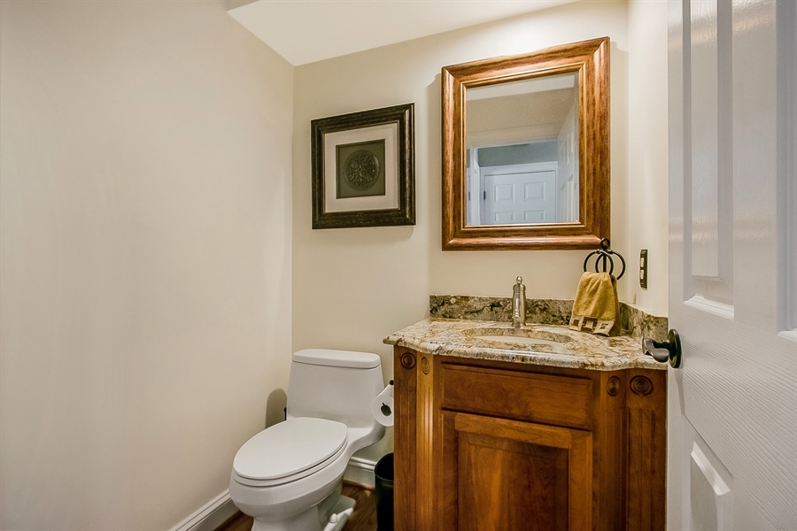Real Estate Photography - 204 S Pond Rd, Hockessin, DE, 19707 - Pretty Remodeled Powder Room