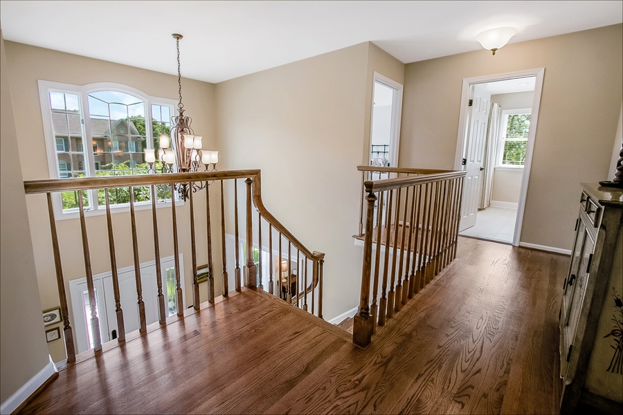 Real Estate Photography - 204 S Pond Rd, Hockessin, DE, 19707 - Upstairs Hall with Hardwood Floors