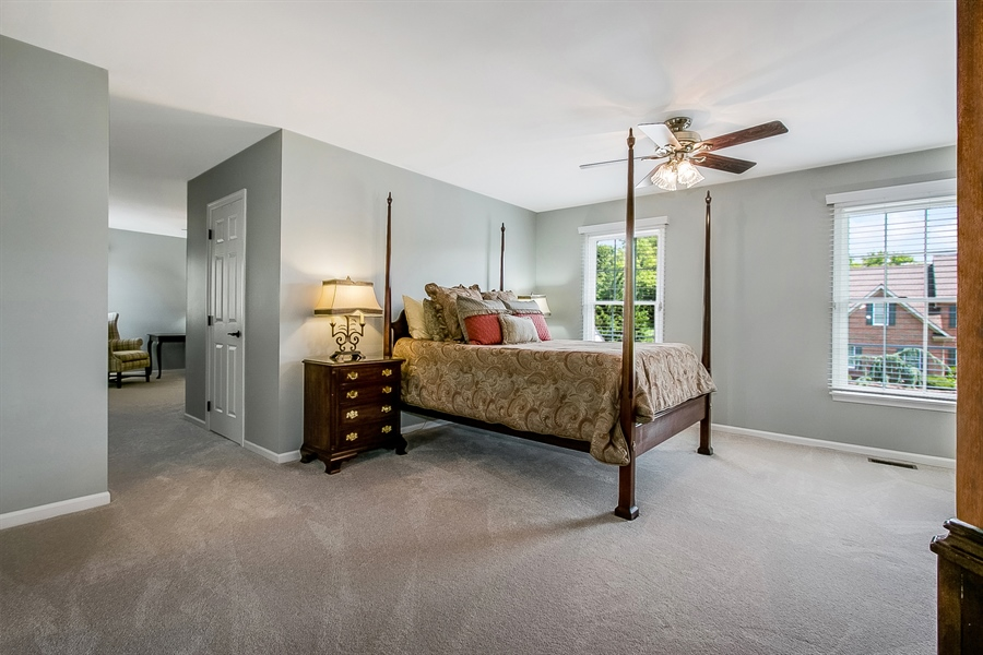 Real Estate Photography - 204 S Pond Rd, Hockessin, DE, 19707 - Serene Master Bedroom with New Neutral Carpet