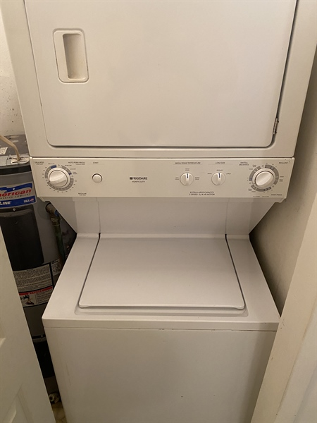 Real Estate Photography - 1025 N Madison Street #208, #208, Wilmington, DE, 19801 - Washer/dryer located in condo unit.