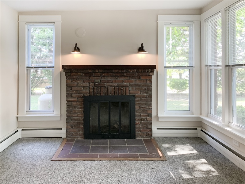 Real Estate Photography - 610 Federal St, Milton, DE, 19968 - Wood burning fireplace