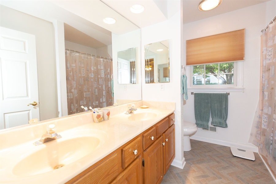 Real Estate Photography - 38047 Creekside Cir, Ocean View, DE, 19970 - Master Bath has Double Sinks