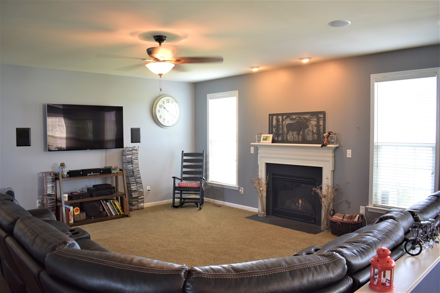Real Estate Photography - 503 Maiden Ct, Middletown, DE, 19709 - Living Room View With Surround Sound