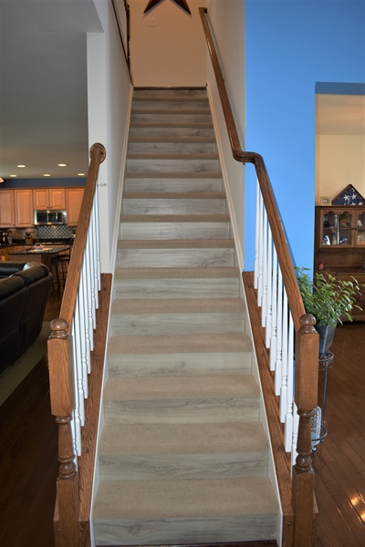 Real Estate Photography - 503 Maiden Ct, Middletown, DE, 19709 - Stairs W/ Custom Risers