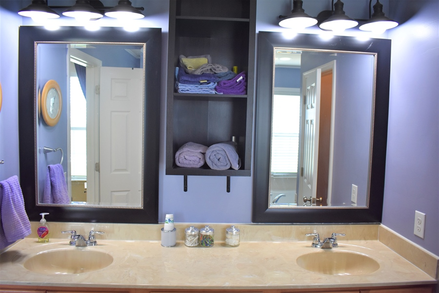 Real Estate Photography - 503 Maiden Ct, Middletown, DE, 19709 - Master Bath Double Vanity [A Marriage Saver!]