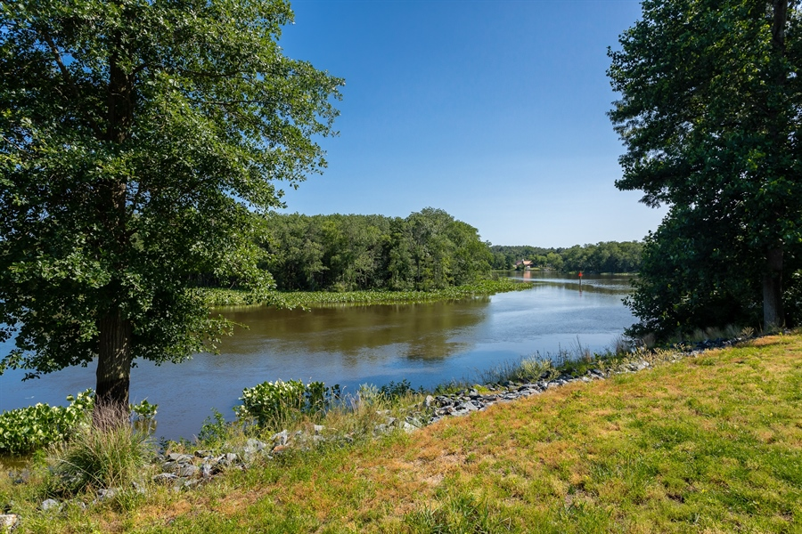 Real Estate Photography - 6393 Baileys Landing Drive, Bethel, DE, 19931 - VIEW OF THE RIVER FROM THE BACK YARD