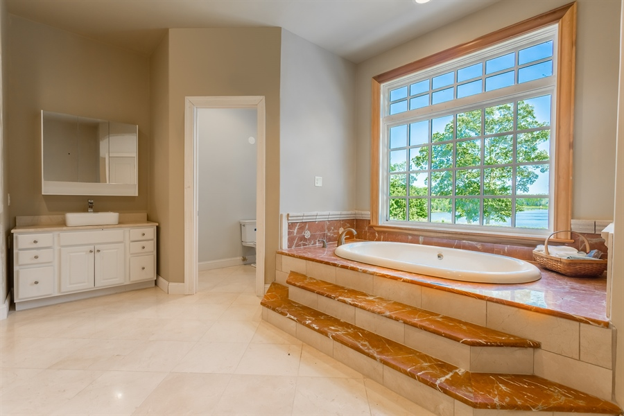 Real Estate Photography - 6393 Baileys Landing Drive, Bethel, DE, 19931 - MAIN BEDROOM SUITE LUXURIOUS BATHROOM