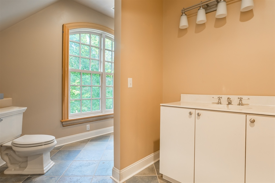Real Estate Photography - 6393 Baileys Landing Drive, Bethel, DE, 19931 - FULL BATH OFF OF THE MEDIA ROOM