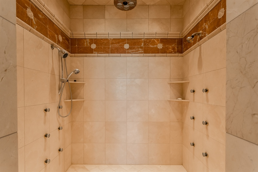 Real Estate Photography - 6393 Baileys Landing Drive, Bethel, DE, 19931 - MULTIPLE JETS ON MAIN BEDROOM SHOWER