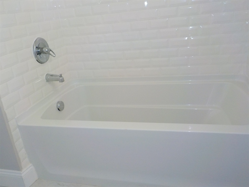 Real Estate Photography - 1300 Kenwood Rd, Wilmington, DE, 19805 - Full Bath Tile Shower