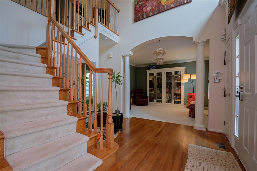 Real Estate Photography - 2 Lynam Lookout Dr, Newark, DE, 19702 - Two story foyer with hardwood floors