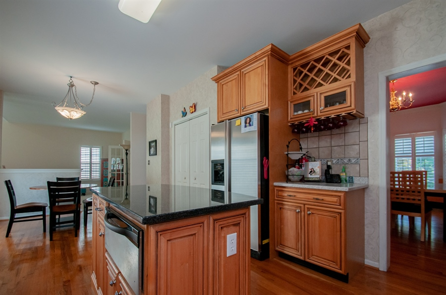 Real Estate Photography - 2 Lynam Lookout Dr, Newark, DE, 19702 - ...wine rack, hardwood floors....