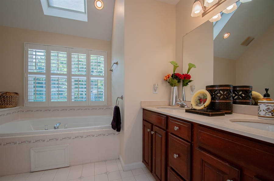Real Estate Photography - 2 Lynam Lookout Dr, Newark, DE, 19702 - The master bath has double sinks....