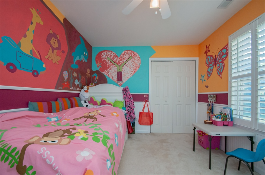 Real Estate Photography - 2 Lynam Lookout Dr, Newark, DE, 19702 - ...while bedroom 4 has custom painted walls....