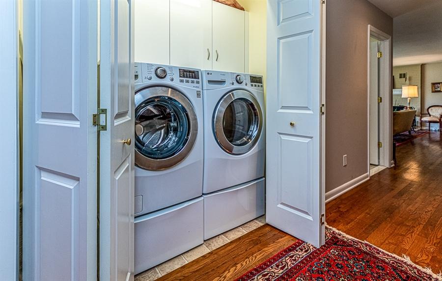 Real Estate Photography - 9 Crest Dr, Hockessin, DE, 19707 - Main floor laundry area