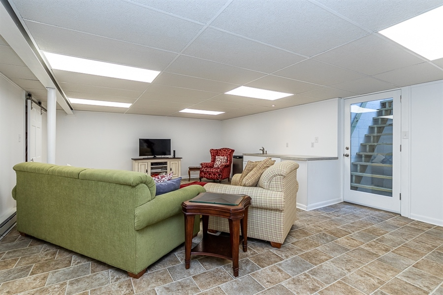 Real Estate Photography - 9 Crest Dr, Hockessin, DE, 19707 - Bright finished basement with egress