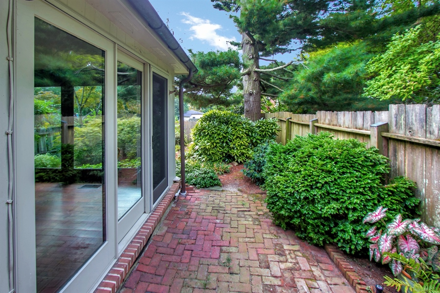 Real Estate Photography - 47 E 2nd St, New Castle, DE, 19720 - Yard with custom made cypress fence