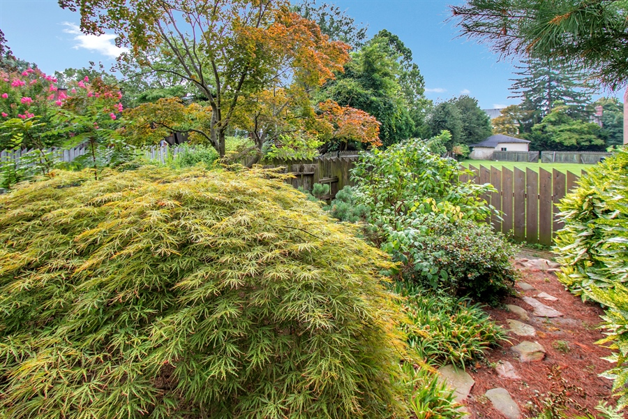 Real Estate Photography - 47 E 2nd St, New Castle, DE, 19720 - Beautiful Landscaping in Backyard