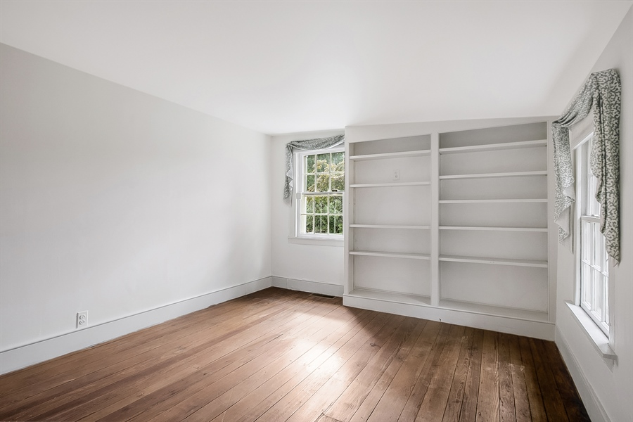 Real Estate Photography - 47 E 2nd St, New Castle, DE, 19720 - 2nd Bedroom-2nd Floor with built in bookshelf