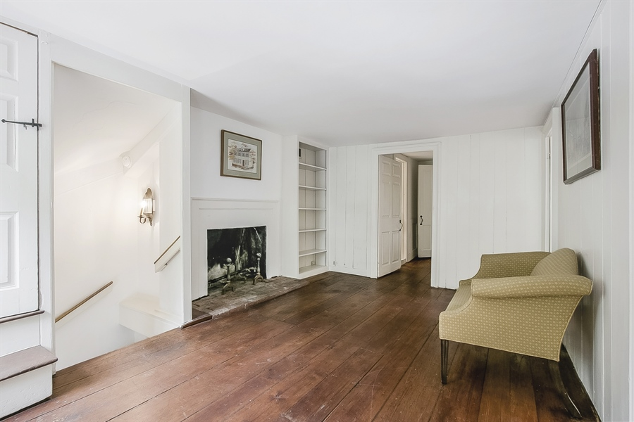 Real Estate Photography - 47 E 2nd St, New Castle, DE, 19720 - 2nd Floor Sitting room with Fireplace
