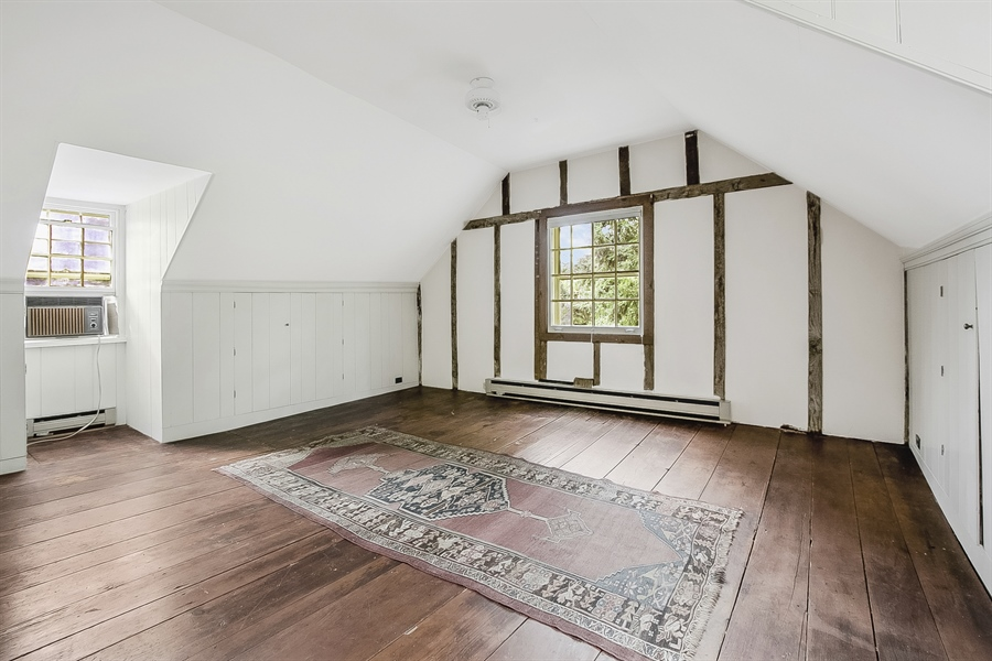 Real Estate Photography - 47 E 2nd St, New Castle, DE, 19720 - 3rd Floor Bedroom with exposed wood posts