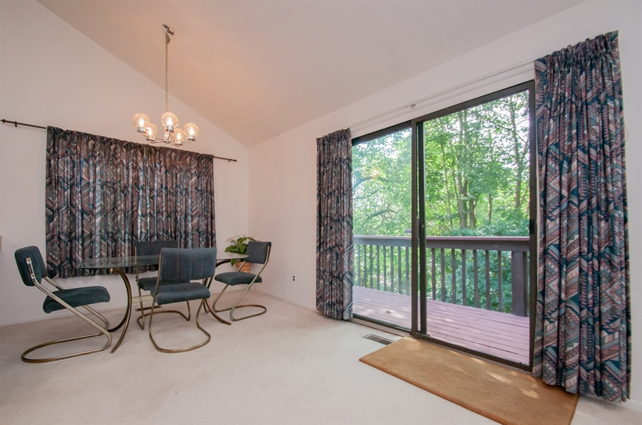 Real Estate Photography - 5455 Pinehurst Dr, Wilmington, DE, 19808 - ....with a sliding door to the deck.