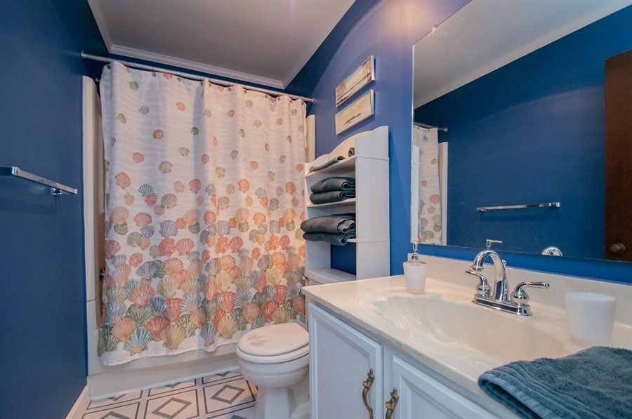 Real Estate Photography - 5455 Pinehurst Dr, Wilmington, DE, 19808 - There's another full bath in the hall