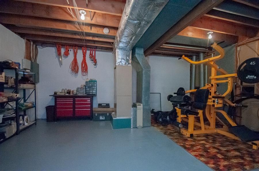 Real Estate Photography - 5455 Pinehurst Dr, Wilmington, DE, 19808 - ...and basement area for storage.