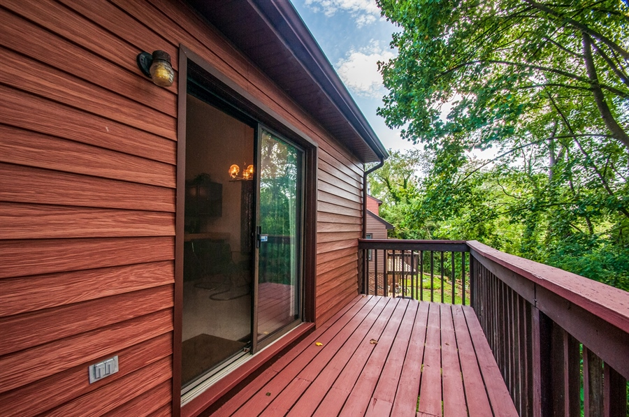 Real Estate Photography - 5455 Pinehurst Dr, Wilmington, DE, 19808 - Just imagine sitting out here in the shaded quiet!