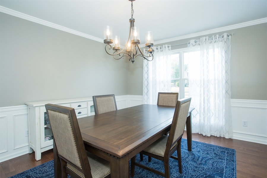 Real Estate Photography - 18 Somerset Ln, Newark, DE, 19711 - Dining Room w/ crown molding and wainscoting