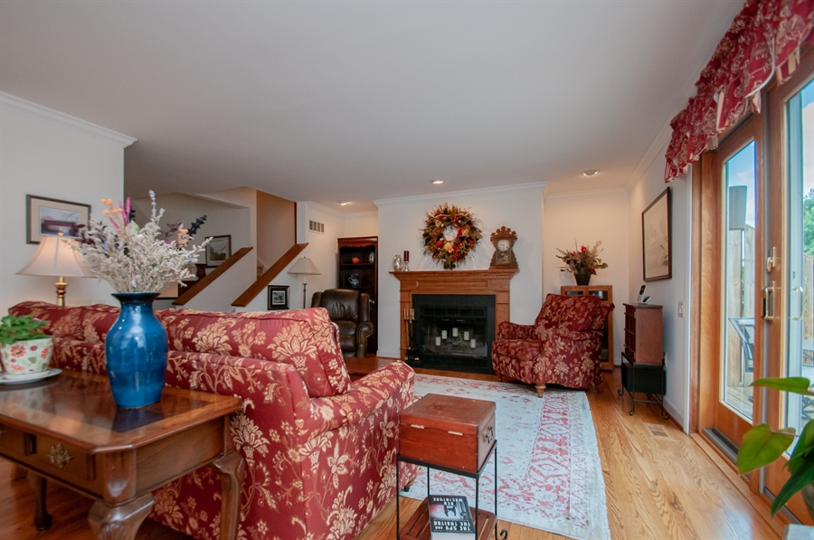 Real Estate Photography - 10 Laurel Ct, Wilmington, DE, 19808 - Wood Burning Fireplace