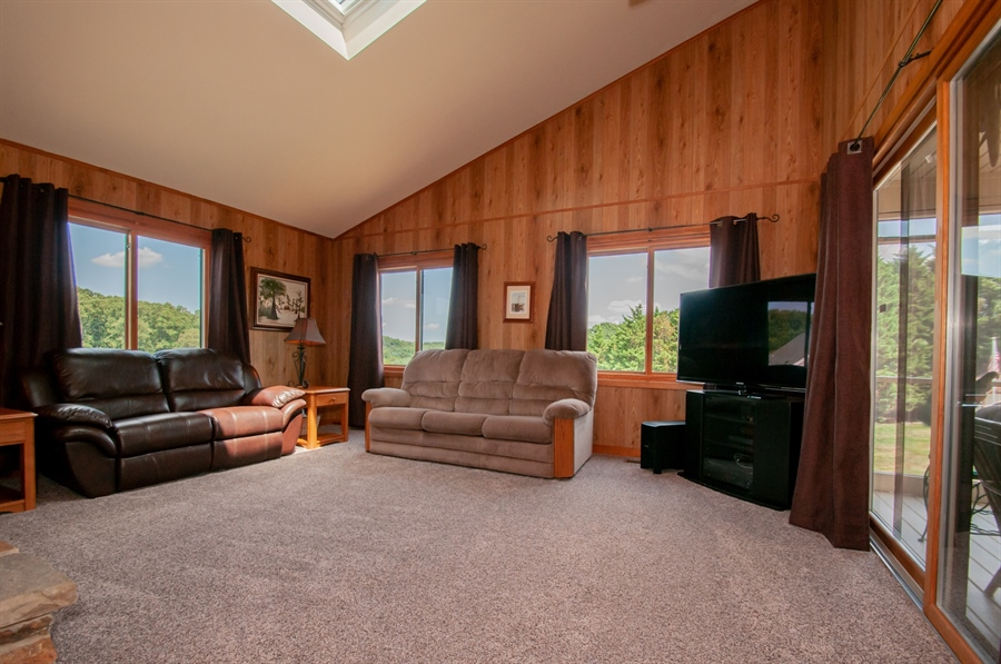 Real Estate Photography - 205 Louis Ln, Hockessin, DE, 19707 - Family Room w/ Vaulted Ceiling and Skylight