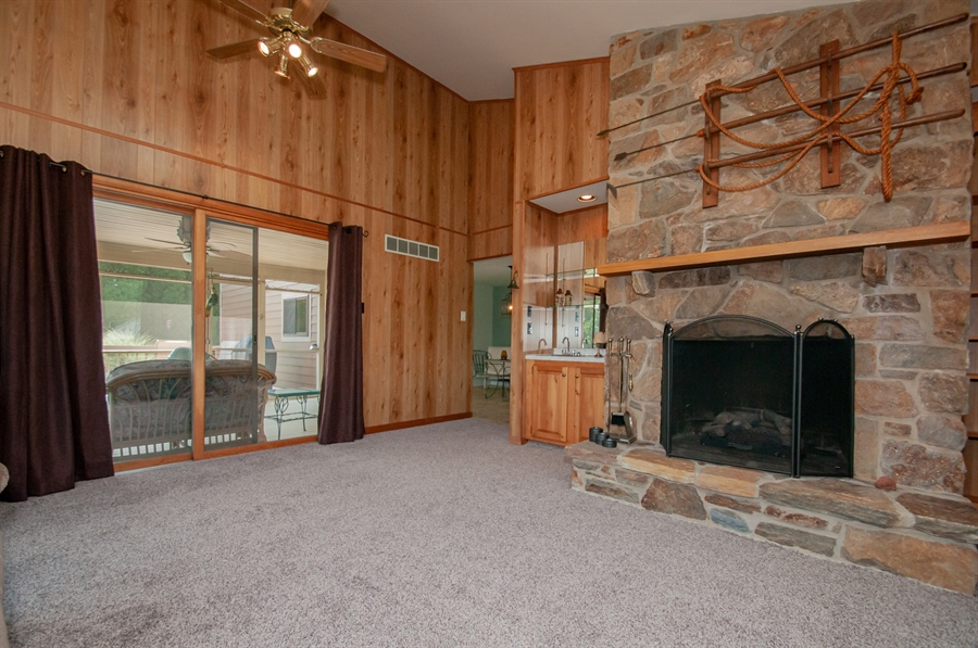 Real Estate Photography - 205 Louis Ln, Hockessin, DE, 19707 - Stone Fireplace